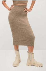 jupe en maille sélection loungewear 2020 mango