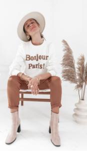 sweat bonjour paris homewear 2020